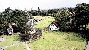 Mühle Frühling Skizze